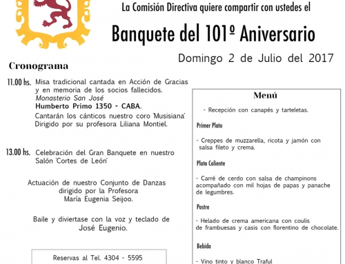 101° Aniversario