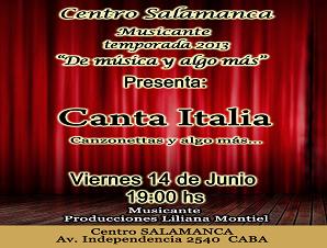 """""""De Música y Algo más"""": Canta Italia"""