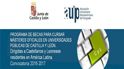 Becas para Másteres Universitarios 2016-2017