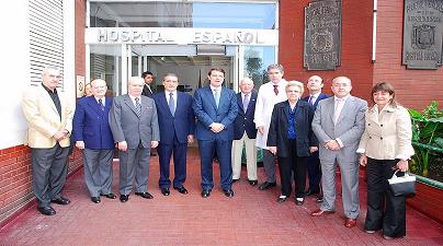 Visita de D. Alfonso Fernández Mañueco al Hospital Español