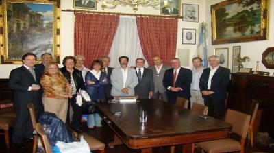 Visita de D. José Alberto Pena Cimadevilla, Vicepresidente de la Colonia Leonesa de Cuba