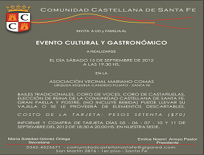 Evento Cultural y Gastronómico con elección de la Reina