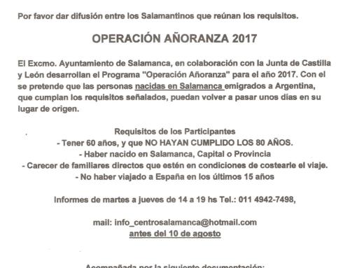 Operación Añoranza 2017