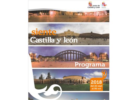 """Programa de Viaje: """"Siente Castilla y León 2018"""""""
