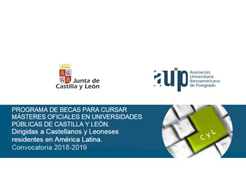 Becas para Masters Universitarios 2018-2019
