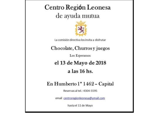 13 de Mayo 2018: Chocolate y churros