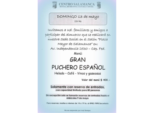 13 de Mayo 2018: Gran Puchero Español