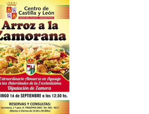 15 de Sept 2018: Arroz a la Zamorana