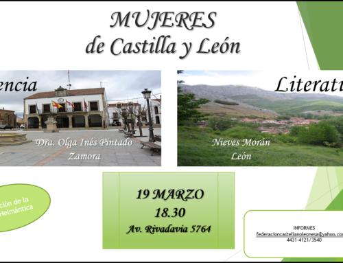 19 de Marzo 2019: Mujeres de Castilla y León