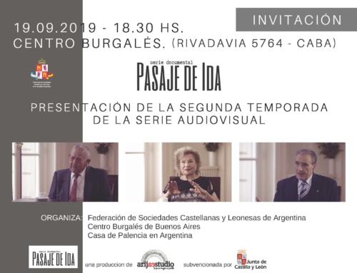 "Presentación Documental ""Pasaje de Ida"""