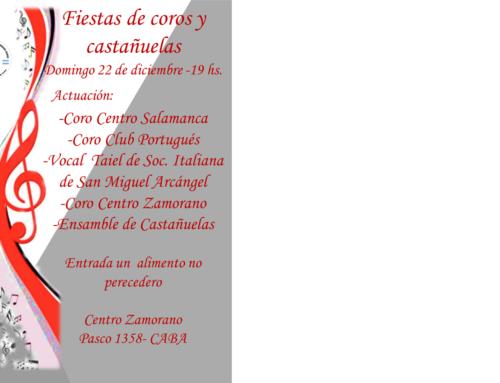 22 de Dic 2019: Fiestas de Coros y Castañuelas