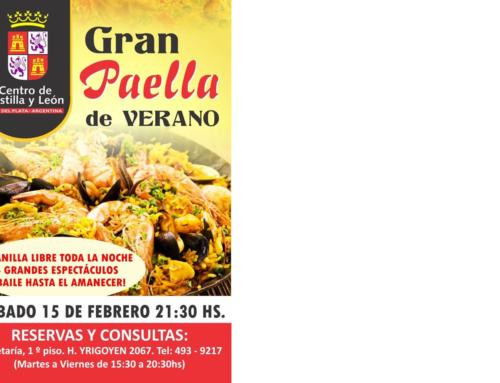 15 de Febrero 2020: II Gran Paella de Verano