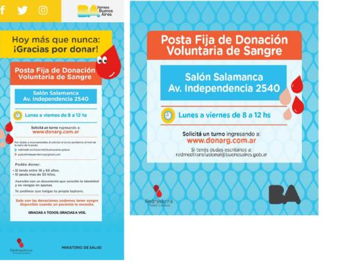 Campaña Donación de Sangre. Ministerio Salud GCBA