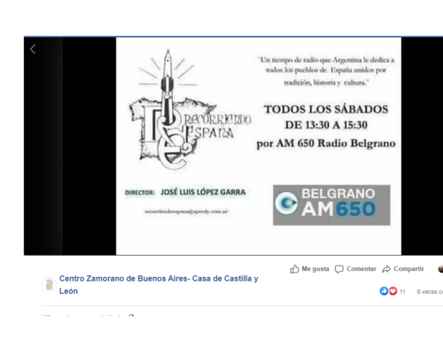 "97° Aniversario: Programa Radial ""Recorriendo España"""