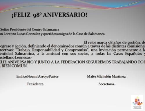 C. SALAMANCA: Feliz 98° Aniversario!