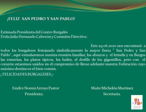 Centro Burgales: Feliz San Pedro y San Pablo!
