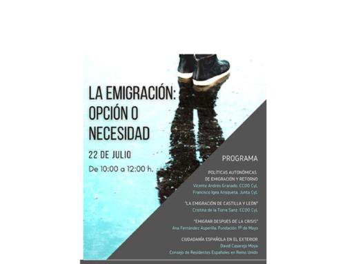 Seminario: Emigración Castellana y Leonesa. Intervención Vicepresidente de la Junta de Castilla y León, Francisco Igea