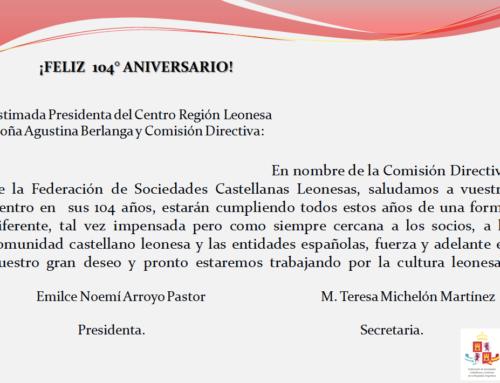 C. Región Leonesa: Feliz 104° Aniversario