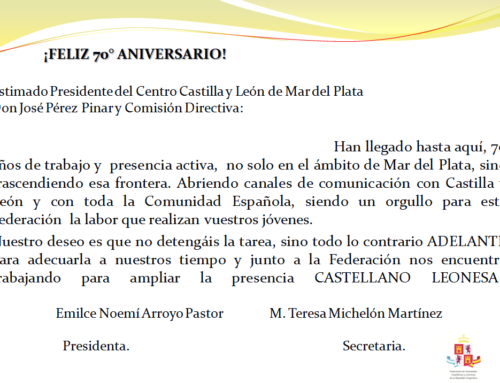 Centro CyL Mar del Plata: Feliz 70° Aniversario!