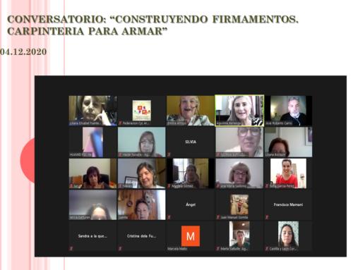 """04 de Dic 2020: Conversatorio Abierto """"Construyendo firmamentos. Carpintería para armar"""""""