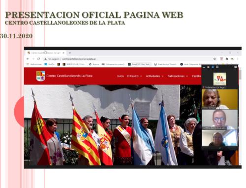 30 de Nov 2020: Presentación Oficial Sitio Web del C. CyL de La Plata