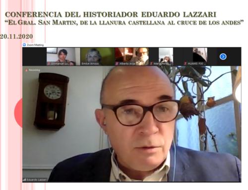 20 Nov 2020: Conferencia del historiador Eduardo Lazzari