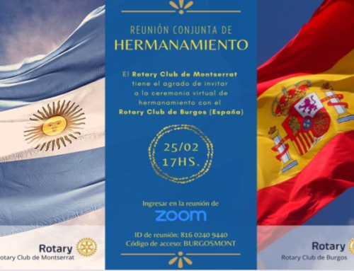 Hermanamiento virtual entre el Rotary Club de Montserrat y Rotary Club de Burgos
