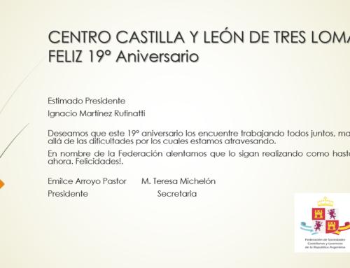 Centro CyL Tres Lomas: Feliz 19° Aniversario!