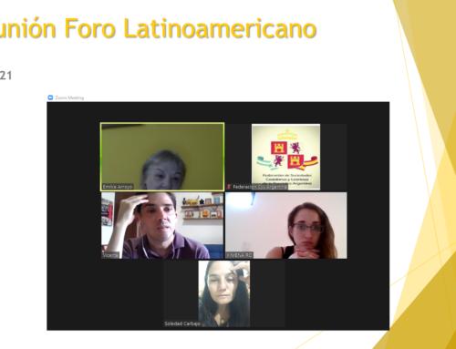 12 abril 2021: Reunión Foro Latinoamericano
