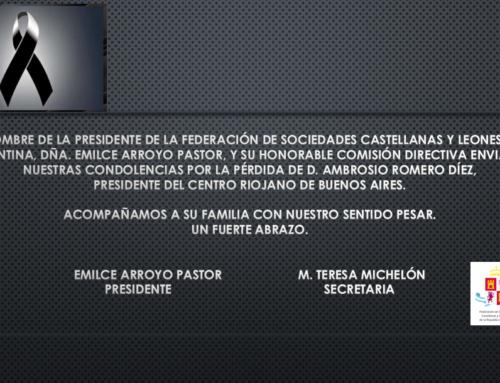 Condolencias, D. Ambrosio Romero Díez