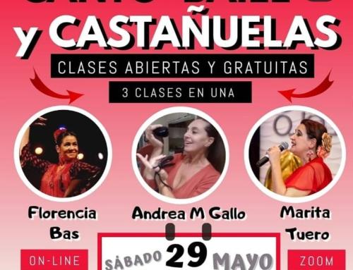 Clases abiertas y gratuitas: Canto- Baile y Castañuelas