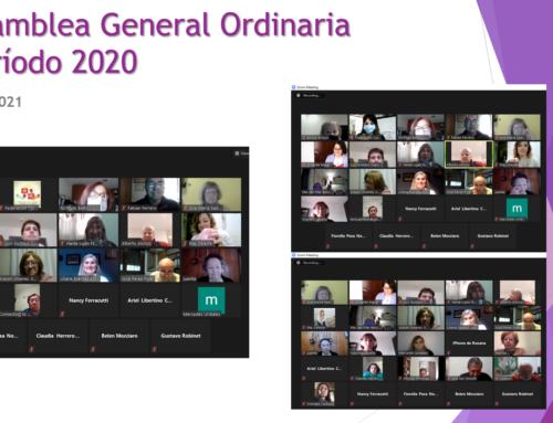 Asamblea Gral. Ordinaria, período 2020. Nueva Comisión Directiva