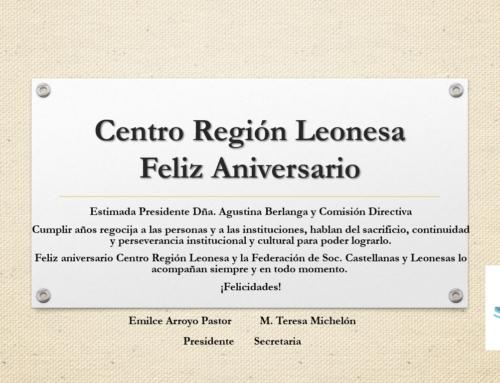 Centro Región Leonesa: Feliz Aniversario!