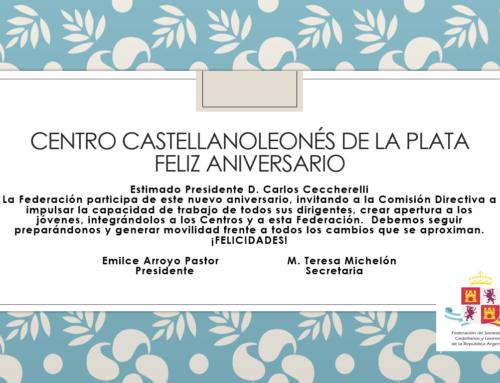 Centro Castellanoleones de La Plata: Feliz Aniversario!