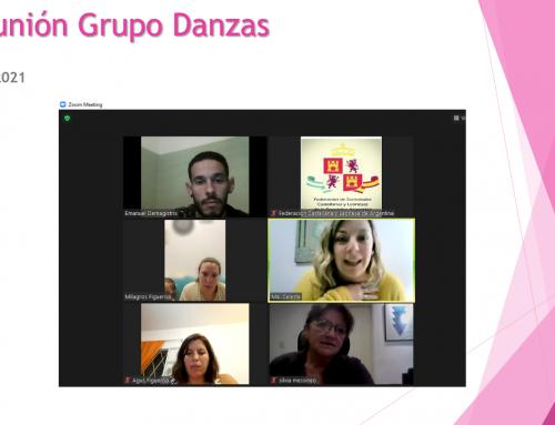 13 Sept 2021: Reunión Grupo Danzas