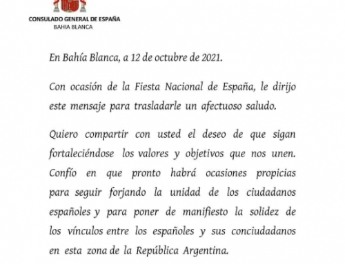 Cónsul Gral. Bahía Blanca, D. Diego Santiago Rivero